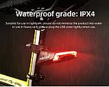 MEILAN X5 Умный Велосипедный Фонарь + USB пульт, Лазерная дорожка, Автостоп (85LM, 2200mAh, LED*29, USB, IPX4), фото 6