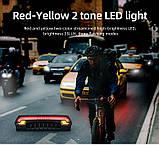 MEILAN X5 Умный Велосипедный Фонарь + USB пульт, Лазерная дорожка, Автостоп (85LM, 2200mAh, LED*29, USB, IPX4), фото 9
