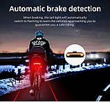 MEILAN X5 Умный Велосипедный Фонарь + USB пульт, Лазерная дорожка, Автостоп (85LM, 2200mAh, LED*29, USB, IPX4), фото 8