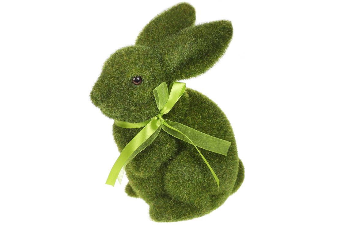 Фигурка декоративная Пасхальный Кролик, 22.5см, цвет - зеленый, в упаковке 12шт. (113-037)