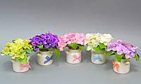 Цветы в вазонах (бидончик) SU006