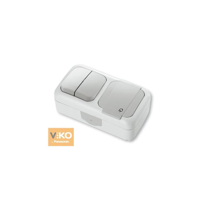 Горизонтальна комбінація вологозахисна VIKO Palmiye - Білий