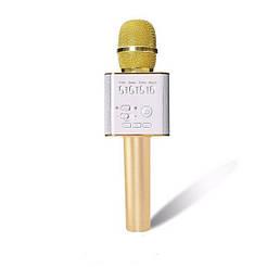 Безпровідний мікрофон караоке Q9 золото