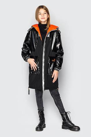 Дитяча куртка демісезонна для дівчинки Наомі на зріст 128 по 158, фото 2