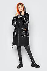Дитяча куртка демісезонна для дівчинки Наомі на зріст 128 по 158, фото 3