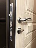 Двери входные металлические уличные со стеклом и ковкой  Магда 142/4 Белое дерево Винорит, фото 6