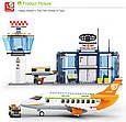 Конструктор SLUBAN M38-B0367 Авіація, літак, аеропорт, 678 деталей, фігурки Т, фото 5