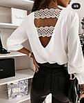 Женская блузка, софт, р-р 42-44; 44-46 (белый), фото 2