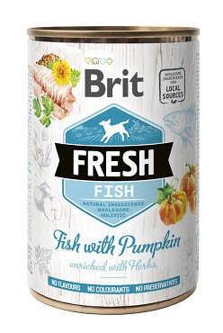 Brit Fresh (Брит Фреш) Консервы для собак с рыбой и тыквой 400 гр