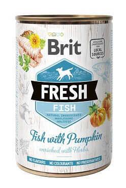 Brit Fresh (Брит Фреш) Консервы для собак с рыбой и тыквой 400 гр, фото 2