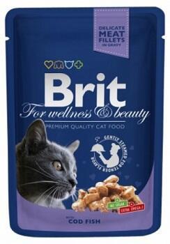 Консервы Brit Premium Влажный корм для кошек с треской 100 гр