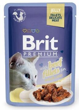 Brit Premium Влажный корм для кошек Филе говядины в желе 85 гр
