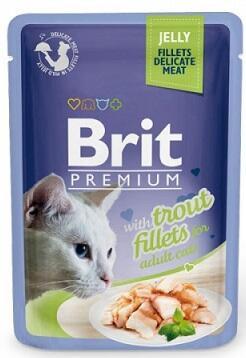 Консервы Brit Premium для котов Филе форели в желе 85 гр