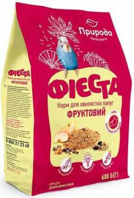 Природа Фиеста Фруктовый Полноценный витаминизированный корм для волнистых попугаев 5 кг