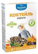 Корм для Корелл и средних попугаев Коктейль Корелла Природа 0,5 кг