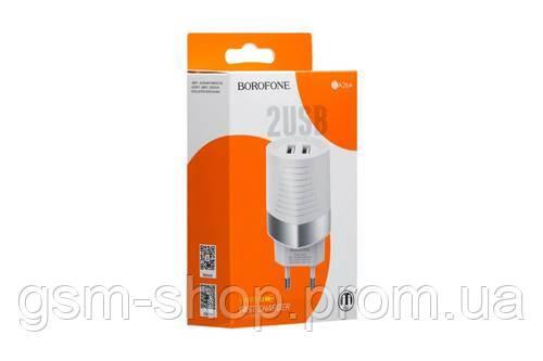 Мережевий Зарядний Пристрій Borofone BA26A 2USB (Білий)