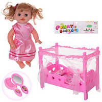 Кукла 168-15 с кроваткой и аксессуарами, фото 1