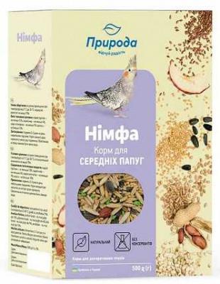 Корм для средних попугаев и Нимф Природа Нимфа 0,5 кг
