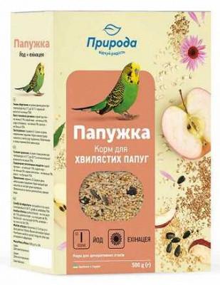 Корм для попугая Природа Папужка йод 575 гр