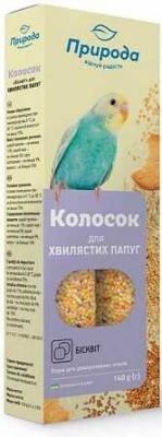 Лакомства для попугаев Природа колосок Бисквит 140 гр, фото 2