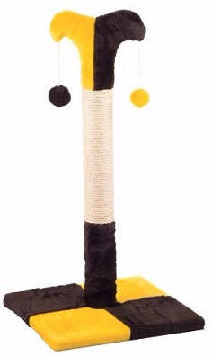 Природа Клоун Д02 Столбик когтеточка для кошек желто-коричневый, фото 2