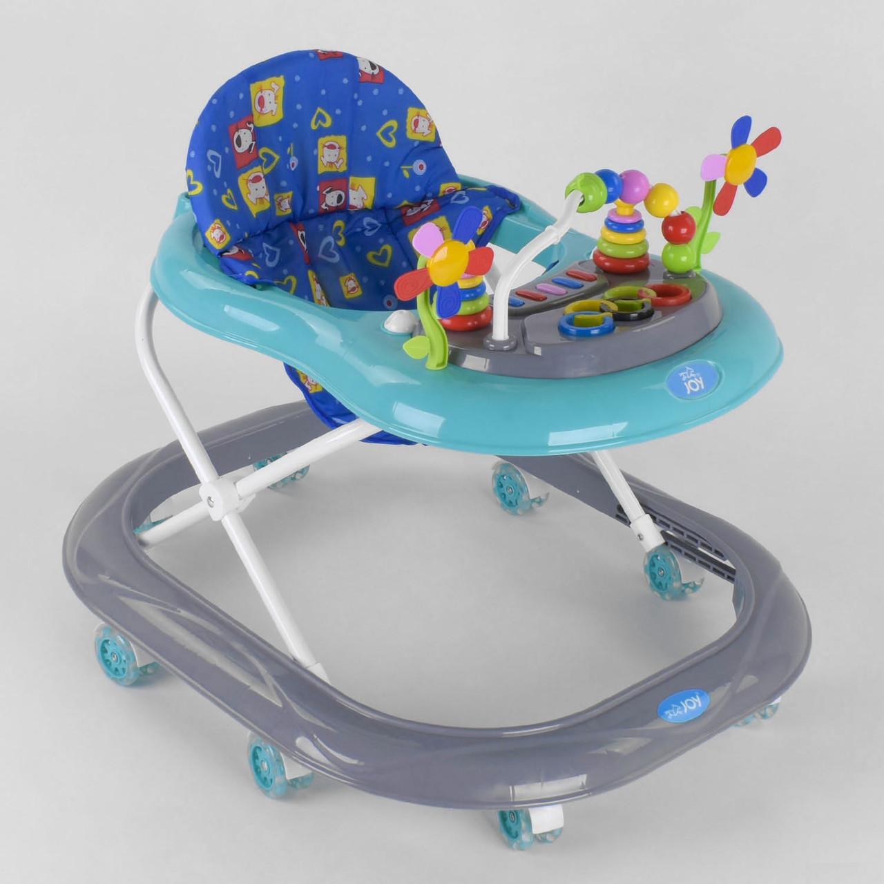 Дитячі ходунки музичні для малюків / ходунки для хлопчика з силіконовими колесами