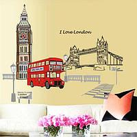 """Интерьерная наклейка на стену """"Лондон"""""""
