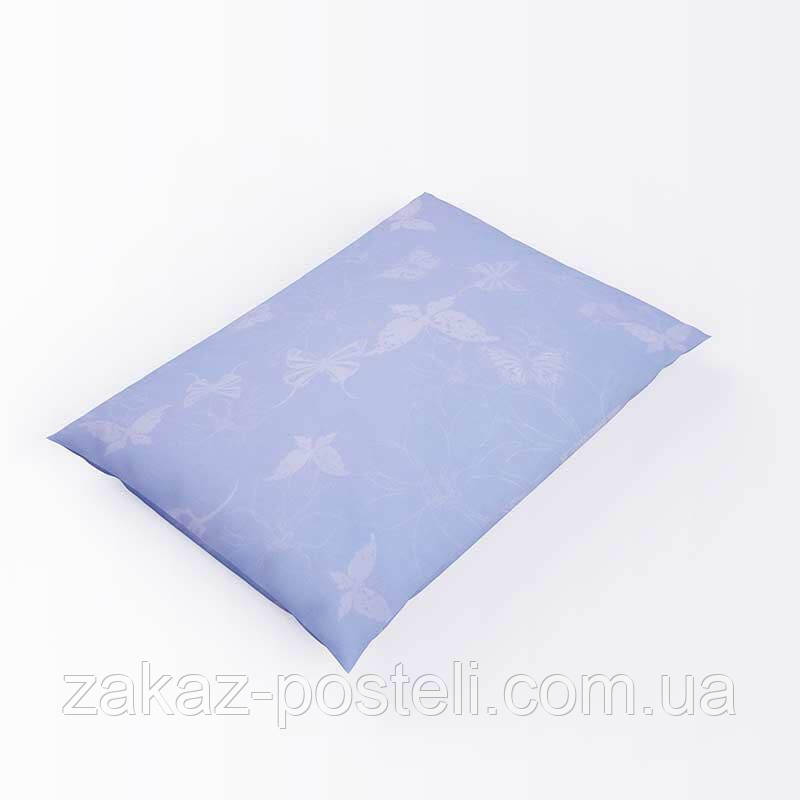 Напірник без канта твк 52 блакитний 40х60 (р) 100% блискавка