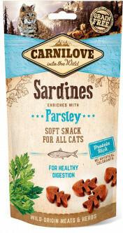 Carnilove (Карнилав) Semi Moist Snack для кошек Сардина с петрушкой