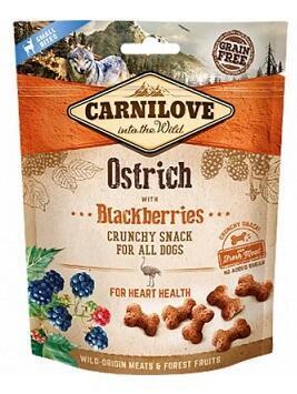 Carnilove Crunchy Snack Лакомства для собак Страус с ежевикой