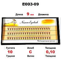 Ресницы Nesura Eyelash 10D, 9 мм, изгиб C, 0,10, 60 пучков Несура ресницы пучки