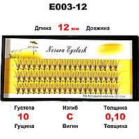 Ресницы Nesura Eyelash 10D, 12 мм, изгиб C, 0,10, 60 пучков Несура ресницы накладные