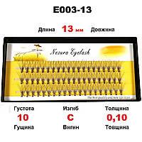 Ресницы Nesura Eyelash 10D, 13 мм, изгиб C, 0,10, 60 пучков Несура ресницы пучками, реснички