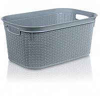 Корзина для хранения вещей Ucsan Рlastik M-076-Grey 27 л