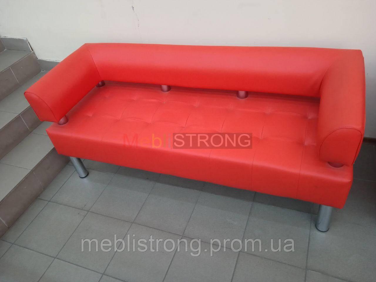 Офисный диван в офис Стронг (MebliSTRONG) - коралловый цвет