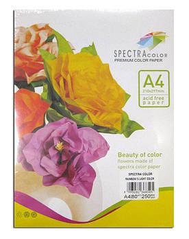 Бумага цветная для принтера Микс Пастель А4 80г/м 250л. SPECTRA color Радуга 5*50л.