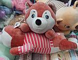 Плед детский + игрушка хаски и подушка 3в1, фото 4