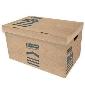 Коробка Buromax для архивных коробов, картон 3270_Коричневый светлый