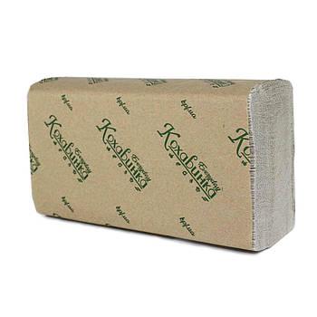Полотенца бумажные Кохавинка, Z-сложение, 200 шт., серые