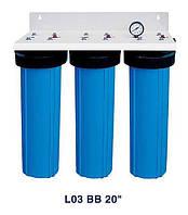 """Система 3-х ступеневого очищення Bio+ systems, L03 BB 20"""" настінна"""