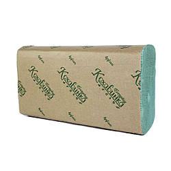 """Бумажные полотенца """"Кохавинка"""" Z типа зеленые 200 шт"""