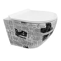 Підвісний унітаз Mexen LENA RIMLESS з сидінням SLIM SOFT-CLOSE