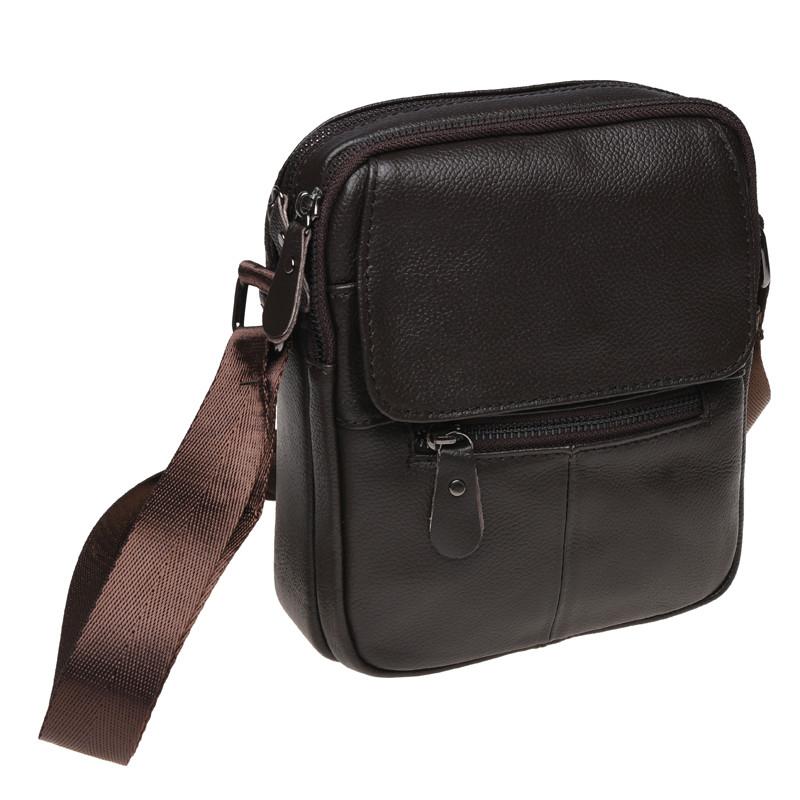 Мужская кожаная сумка Borsa Leather k11169-brown