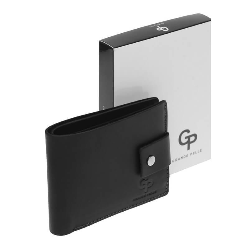 Кожаное мужское портмоне GP черного цвета 1gp542110-black