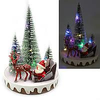 """Новогодняя LED декорация 3D """"Дед мороз"""", 15х11х11см, 1шт/этик."""