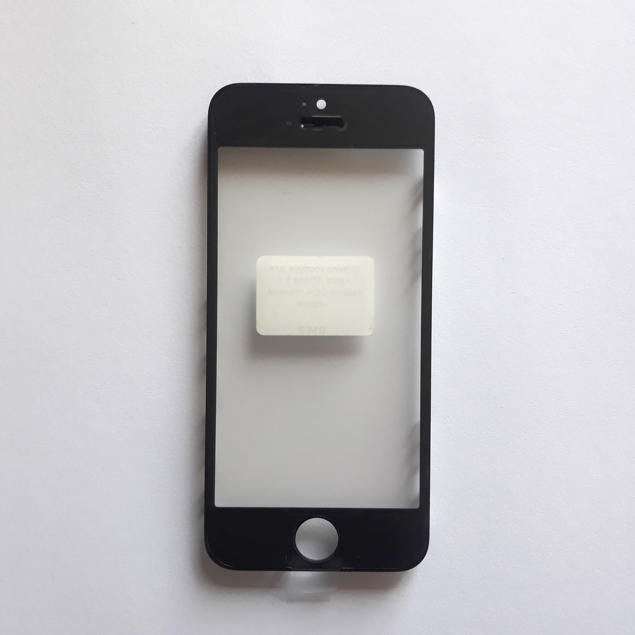 Скло корпуса Apple iPhone 5 з рамкою, OCA плівкою Black