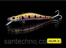 Воблер Walk Fish Minnow 85 3D глаза