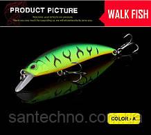 Воблер Walk Fish Minnow 80 3D глаза