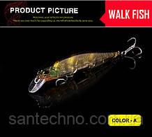 Воблер для щуки Walk Fish Minnow 110 3D глаза