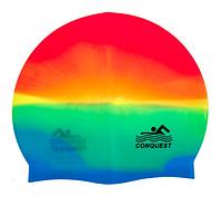 Шапочка силиконовая для плавания Conquest
